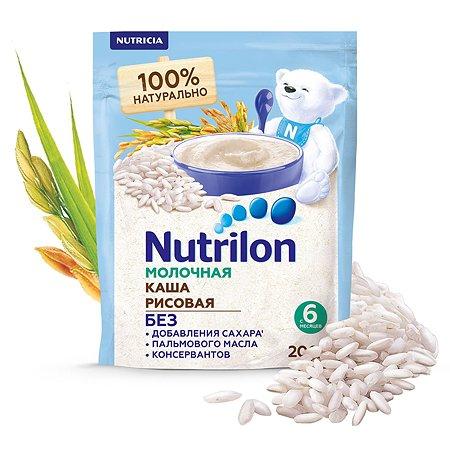 Каша молочная Nutrilon рисовая 200г с 6месяцев