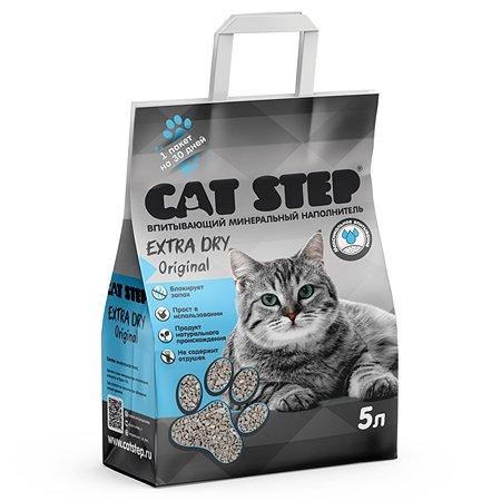 Наполнитель для кошачьего туалета Cat Step Extra Dry Original впитывающий минеральный 5л