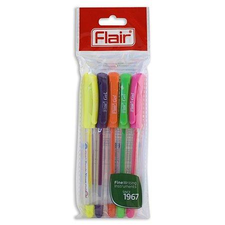 Набор ручек гелевых FLAIR Trendy Neon Gel 5 цветов F-1185/5
