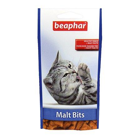 Подушечки для кошек Beaphar Malt Bits для вывода шерсти с мальт пастой 35г
