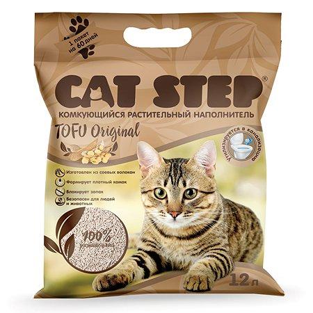 Наполнитель для кошачьего туалета Cat Step Tofu Original комкующийся растительный 12л