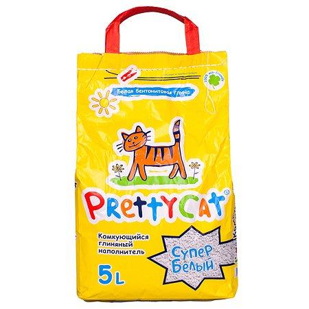 Наполнитель для кошек Pretty Cat Супер белый комкующийся 5л