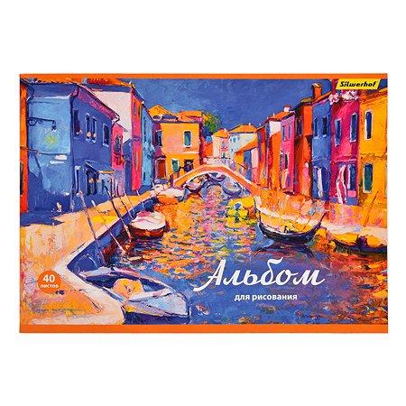 Альбом для рисования Silwerhof Венеция А4 40л 1115232