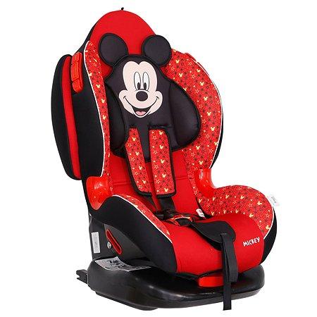 Автокресло SIGER Disney Кокон Isofix Микки Маус Звезды Красный