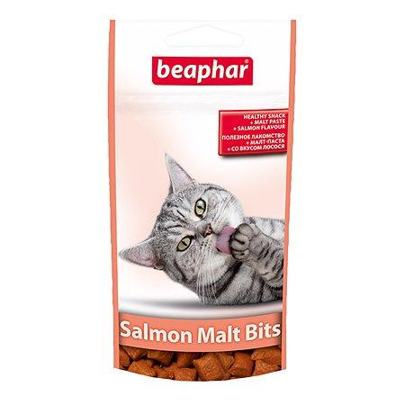 Подушечки для кошек Beaphar Malt-Bits для вывода шерсти лосось 35г