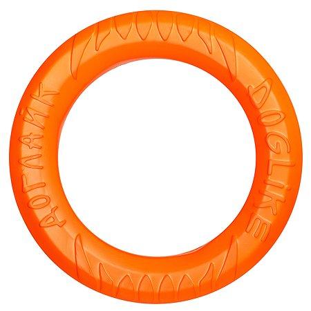 Игрушка для собак Doglike Tug and Twist Кольцо восьмимигранное большое Оранжевый