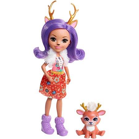 Кукла Enchantimals с любимой зверюшкой Данесса Олень FNH23