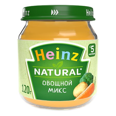 Пюре Heinz овощной микс120г с 5месяцев