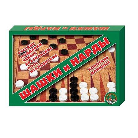 Игра настольная Десятое королевство Шашки нарды большие 01069