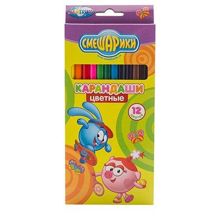 Цветные карандаши Смешарики 12 цв