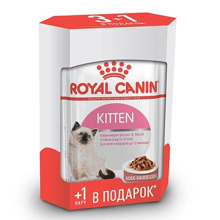 Корм влажный для котят ROYAL CANIN Kitten 3+1*85г соус