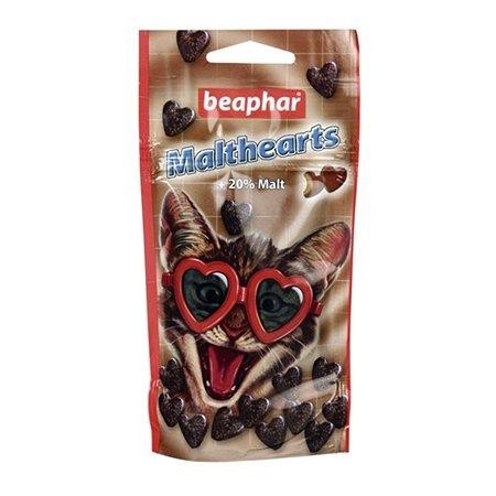 Сердечки для кошек Beaphar Malt-Heart для вывода шерсти с мальт пастой 150таблеток