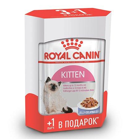Корм влажный для котят ROYAL CANIN Kitten 3+1*85г желе