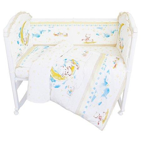 Комплект постельного белья Baby Nice Мишка на Луне 6предметов DMH15/18