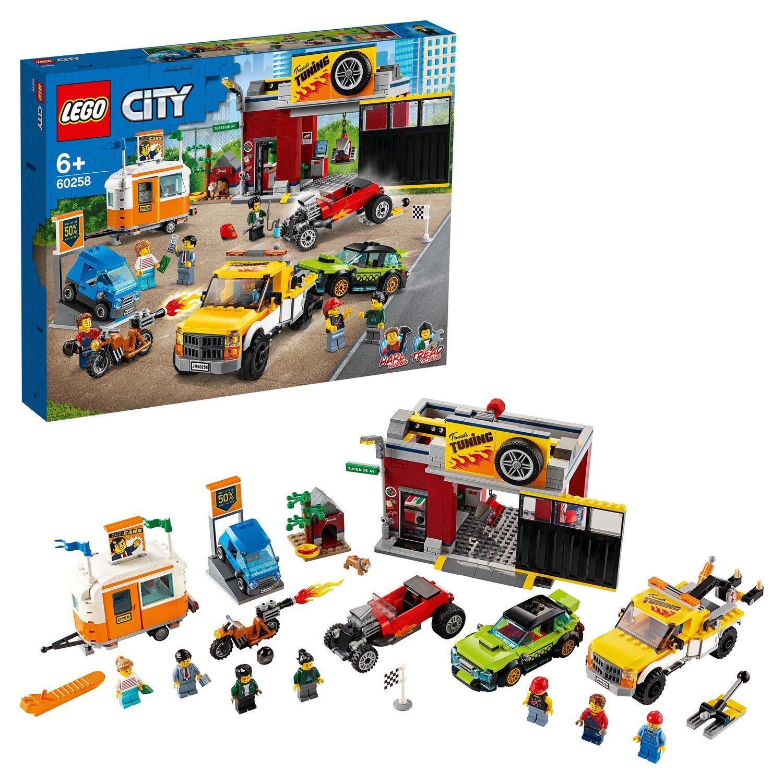 Конструктор LEGO City Nitro Wheels Тюнинг-мастерская 60258