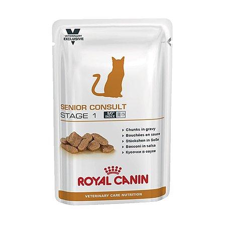 Корм для кошек ROYAL CANIN Senior Consult Stage1 кастрированных пожилых консервированный 0.1кг