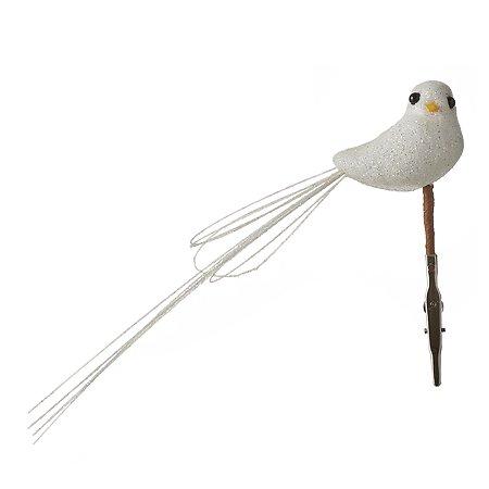 Игрушка елочная House of Seasons Птица 11 см Белый 1049714