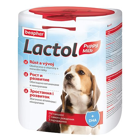 Смесь для щенков Beaphar Lactol puppy молочная с добавлением докозагексаеновой кислоты 500г