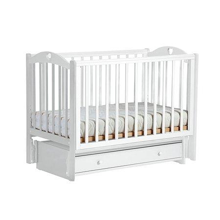 Кроватка ЛЕЛЬ Кубаночка-11 маятниковая универсальная Белая