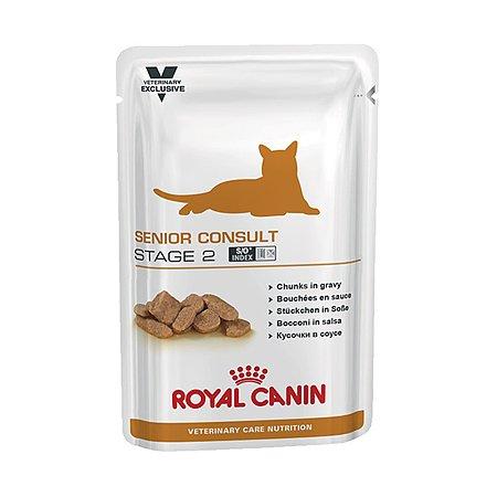 Корм для кошек ROYAL CANIN Senior Consult Stage2 кастрированных пожилых консервированный 0.1кг