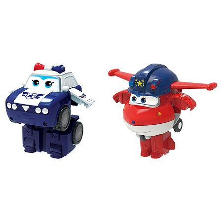 Мини-трансформер 2в1 Super Wings Джетт и Пол EU730002A