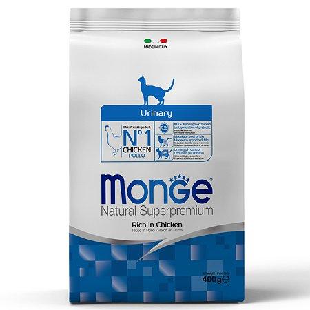 Корм сухой для кошек MONGE 400г курица профилактика МКБ