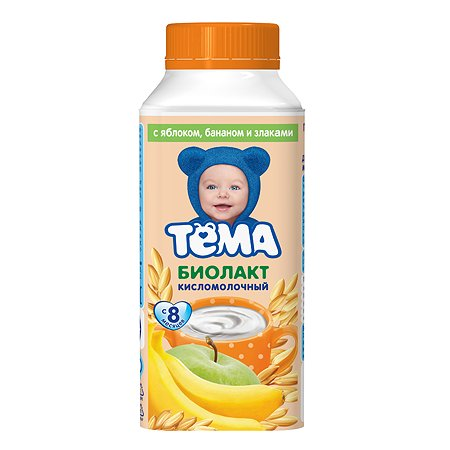 Биолакт Тёма яблоко-банан-злаки 3.0% 206г с 8месяцев 140013