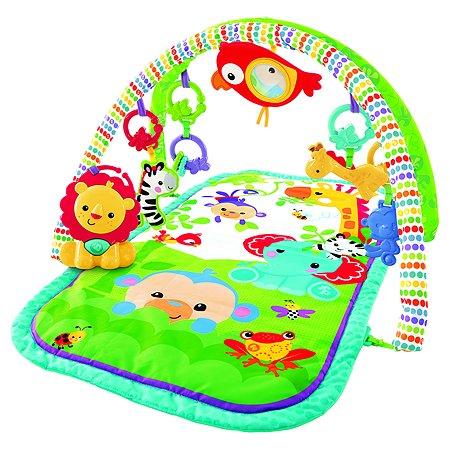 Игровой коврик 3 в 1 Fisher Price Друзья из тропического леса
