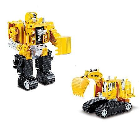 Робот-машинка 2 в 1 Devik Toys Экскаватор
