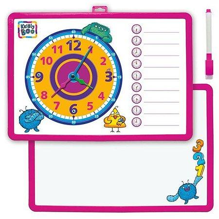 Доска-часы Kribly Boo двусторонняя, с маркером в ассортименте