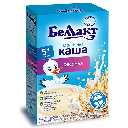Каша молочная Беллакт овсяная с витаминами и минералами 200г с 5месяцев