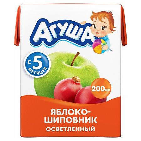 Сок Агуша яблоко-шиповник осветленный 0.2л с 5месяцев