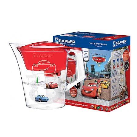 Фильтр-кувшин Барьер с фильтром для очистки воды Тачки красный
