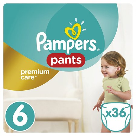 Подгузники-трусики Pampers Premium care 15+кг 36шт