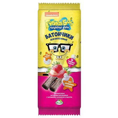 Батончики Sponge Bob амарантовые с клубничной начинкой глазированные 20г