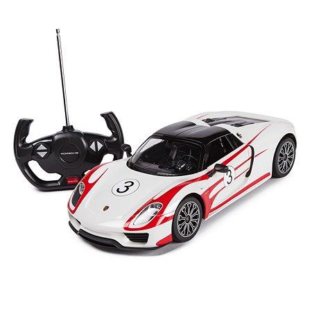 Машинка радиоуправляемая Rastar PORSCHE 918 SP 1:14 белая