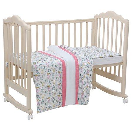 Комплект постельного белья Polini kids Последний Богатырь 3 предмета Розовый