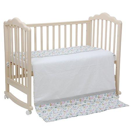 Комплект постельного белья Polini kids Последний Богатырь 3 предмета Серый
