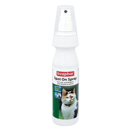 Спрей для кошек Beaphar Spot On Spray от клещей и блох с маслом маргозы и лаванды 150мл