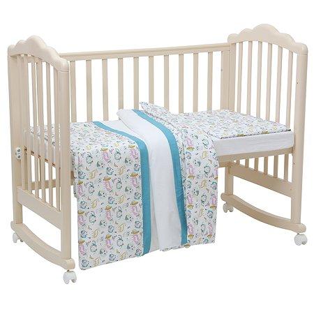 Комплект постельного белья Polini kids Последний Богатырь 3 предмета Голубой