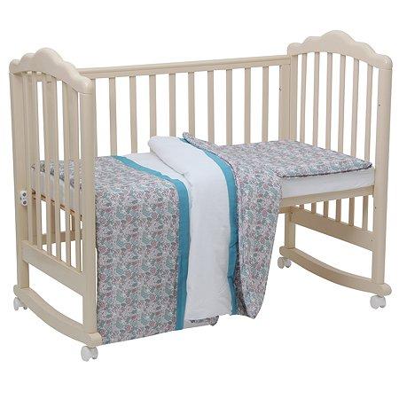 Комплект постельного белья Polini kids Последний Богатырь 3 предмета Принцесса Голубой