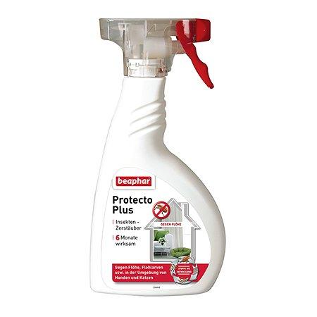 Спрей для собак и кошек Beaphar Protecto Plus для обработки помещений от паразитов 400мл