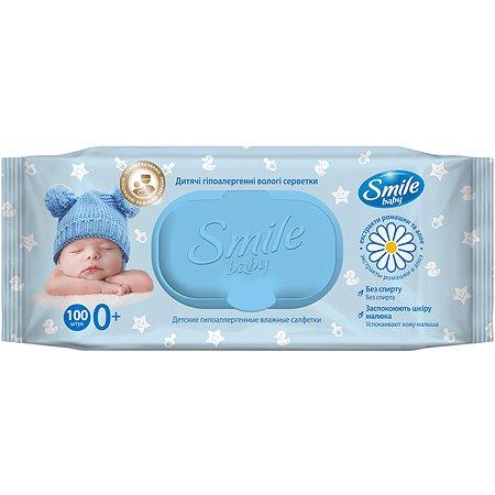 Салфетки влажные Smile Baby Фито 100шт