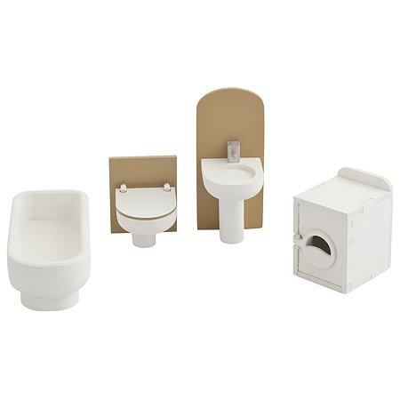 Набор мебели для домика PAREMO Ванная комната 4предмета PDA417-04