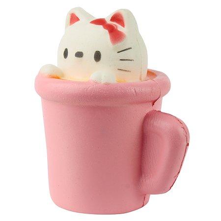 Игрушка антистресс 1TOY Мммняшка Кошка в чашке Т12416