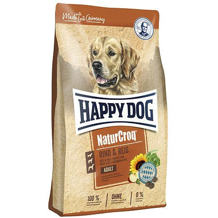 Корм для собак Happy Dog Premium NaturCroq говядина-рис 15кг