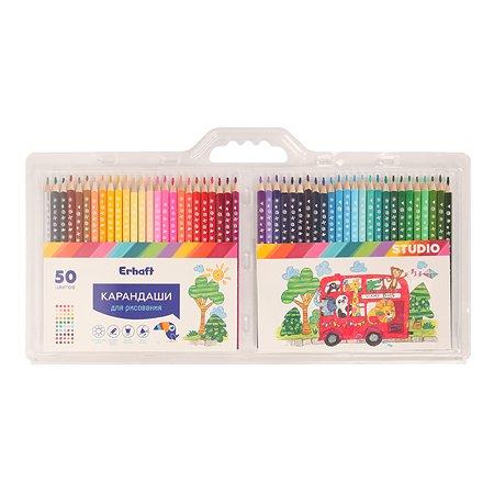 Набор цветных карандашей Erhaft Studio 50шт NCP0001