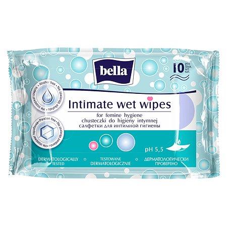 Салфетки влажные Bella для интимной гигиены 10шт