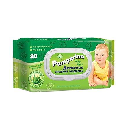 Cалфетки влажные PAMPERINO детские 80шт 15308