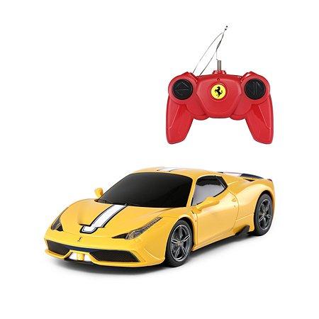Машинка на радиоуправлении Rastar Ferrari 458 1:24 Желтая